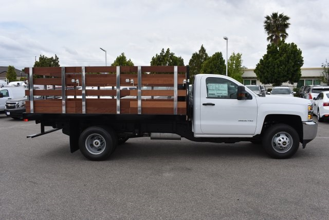 2017 Silverado 3500 Regular Cab, Harbor Flat/Stake Bed #M17474 - photo 8