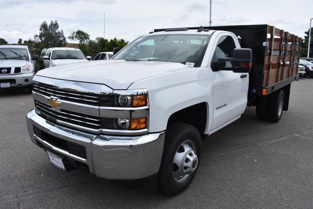 2017 Silverado 3500 Regular Cab, Harbor Flat/Stake Bed #M17474 - photo 5