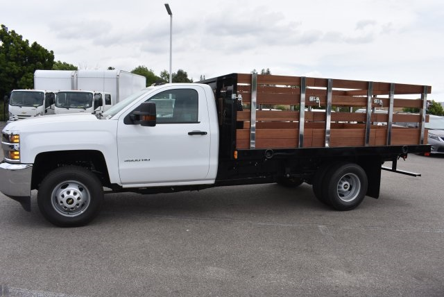2017 Silverado 3500 Regular Cab, Harbor Flat/Stake Bed #M17474 - photo 6