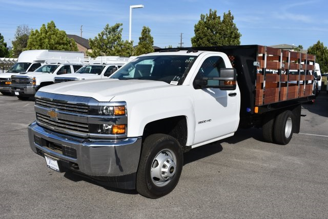 2017 Silverado 3500 Regular Cab, Harbor Flat/Stake Bed #M17476 - photo 6