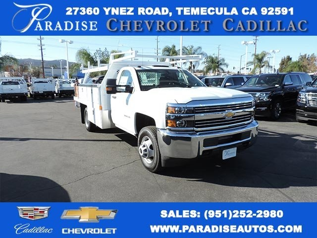 2017 Silverado 3500 Regular Cab DRW, Harbor Standard Contractor Contractor Body #M17476 - photo 1