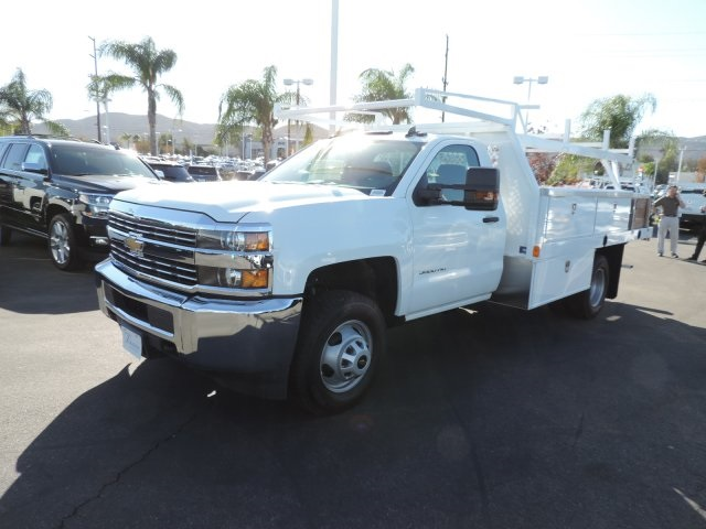 2017 Silverado 3500 Regular Cab DRW, Harbor Contractor Body #M17476 - photo 4