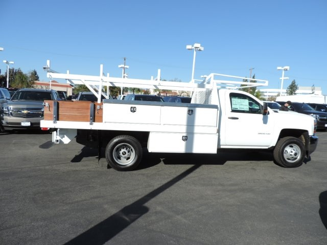 2017 Silverado 3500 Regular Cab DRW, Harbor Contractor Body #M17476 - photo 8