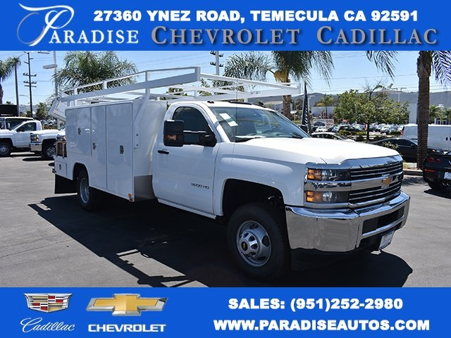 2017 Silverado 3500 Regular Cab, Harbor Flat/Stake Bed #M17476 - photo 37