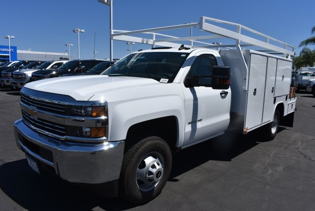 2017 Silverado 3500 Regular Cab, Harbor Flat/Stake Bed #M17476 - photo 39