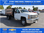 2017 Silverado 3500 Regular Cab, Harbor Flat/Stake Bed #M17476 - photo 1