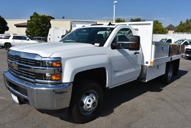 2017 Silverado 3500 Regular Cab, Harbor Flat/Stake Bed #M17677 - photo 5