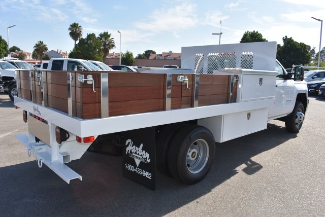 2017 Silverado 3500 Regular Cab, Harbor Flat/Stake Bed #M17677 - photo 2