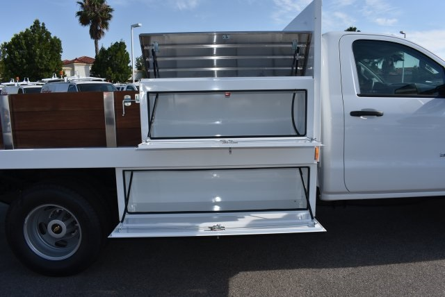 2017 Silverado 3500 Regular Cab, Harbor Black Boss Flatbed Platform Body #M17689 - photo 10
