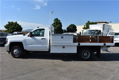 2017 Silverado 3500 Regular Cab, Harbor Black Boss Flatbed Platform Body #M17689 - photo 6