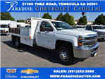 2017 Silverado 3500 Regular Cab, Harbor Black Boss Flatbed Platform Body #M17689 - photo 1