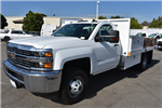 2017 Silverado 3500 Regular Cab, Harbor Black Boss Flatbed Platform Body #M17689 - photo 5