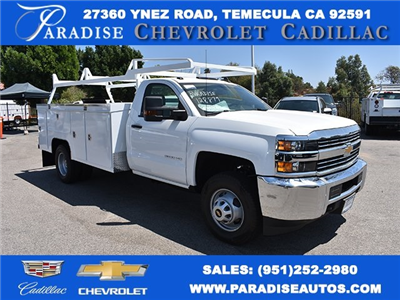 2017 Silverado 3500 Regular Cab DRW, Scelzi Signature Service Utility #M17723 - photo 1