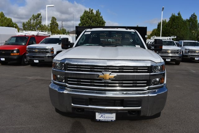 2017 Silverado 3500 Regular Cab DRW, Harbor Black Boss Flatbed Platform Body #M17727 - photo 4