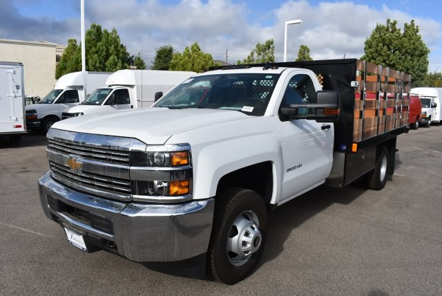 2017 Silverado 3500 Regular Cab, Harbor Platform Body #M17727 - photo 5
