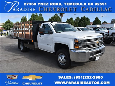 2017 Silverado 3500 Regular Cab DRW, Harbor Black Boss Flatbed Platform Body #M17727 - photo 1
