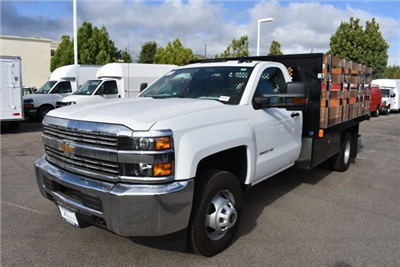 2017 Silverado 3500 Regular Cab DRW, Harbor Black Boss Flatbed Platform Body #M17727 - photo 5