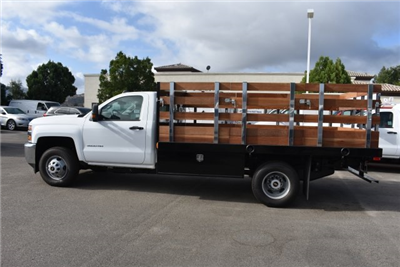 2017 Silverado 3500 Regular Cab DRW, Harbor Black Boss Flatbed Platform Body #M17727 - photo 6