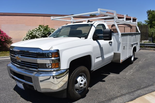 2017 Silverado 3500 Regular Cab DRW, Harbor Utility #M17757 - photo 4