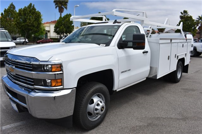 2017 Silverado 3500 Regular Cab DRW, Scelzi Signature Service Utility #M17881 - photo 5