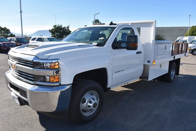 2018 Silverado 3500 Regular Cab DRW, Harbor Black Boss Flatbed Platform Body #M18183 - photo 5