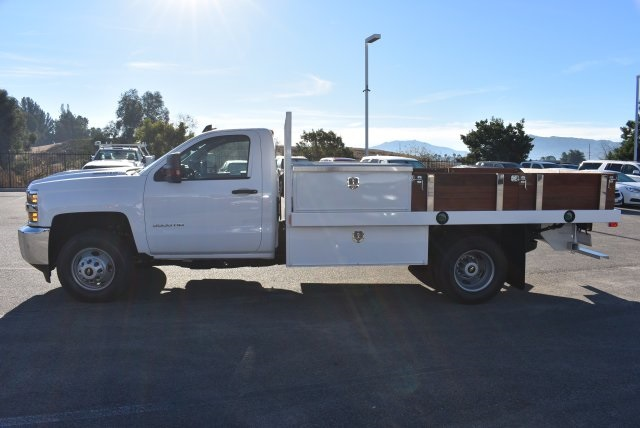 2018 Silverado 3500 Regular Cab DRW, Harbor Black Boss Flatbed Platform Body #M18183 - photo 6