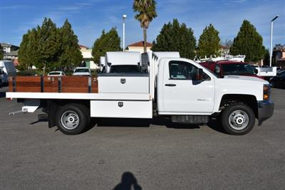 2018 Silverado 3500 Regular Cab DRW, Harbor Black Boss Flatbed Platform Body #M18183 - photo 9