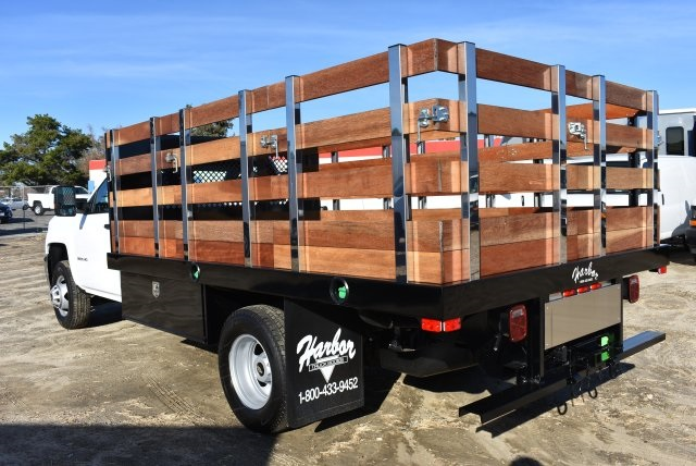 2018 Silverado 3500 Regular Cab DRW 4x2,  Harbor Flat/Stake Bed #M18186 - photo 7