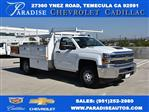 2018 Silverado 3500 Regular Cab DRW 4x2,  Harbor Standard Contractor Body #M18204 - photo 1