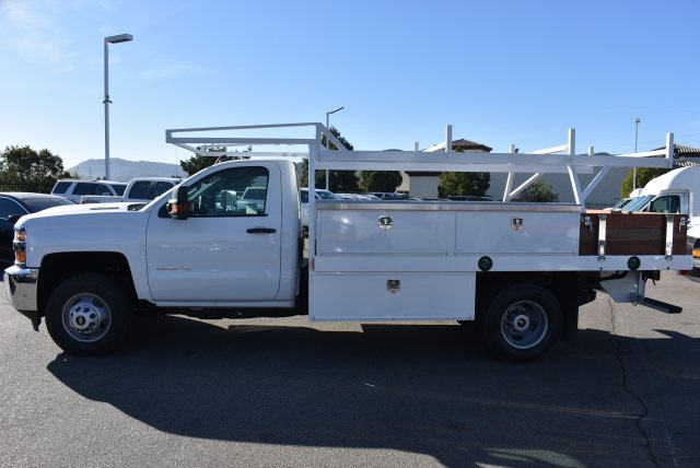 2018 Silverado 3500 Regular Cab DRW 4x2,  Harbor Contractor Body #M18205 - photo 5