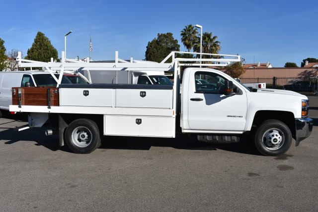 2018 Silverado 3500 Regular Cab DRW 4x2,  Harbor Contractor Body #M18205 - photo 7