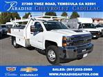 2018 Silverado 3500 Regular Cab DRW 4x2,  Harbor Contractor Body #M18205 - photo 1