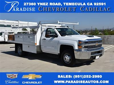 2018 Silverado 3500 Regular Cab DRW 4x2,  Harbor Standard Contractor Body #M18215 - photo 1