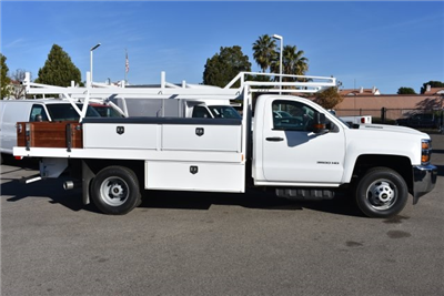 2018 Silverado 3500 Regular Cab DRW,  Harbor Standard Contractor Contractor Body #M18215 - photo 7