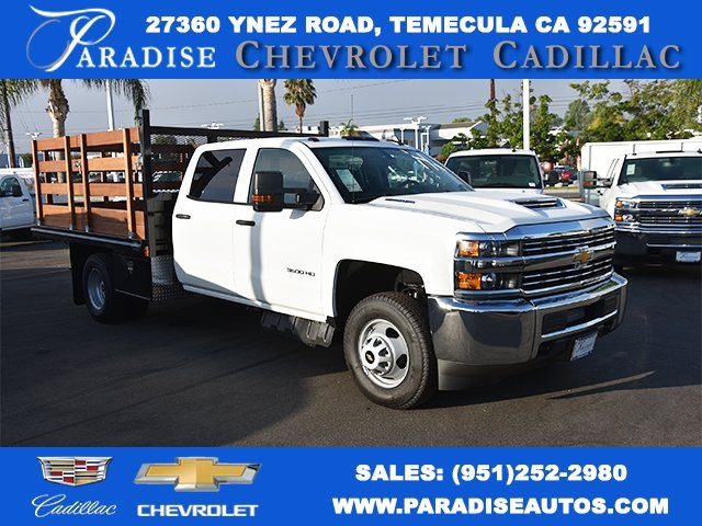 2018 Silverado 3500 Crew Cab DRW 4x2,  Martin's Quality Truck Body Flat/Stake Bed #M18356 - photo 1