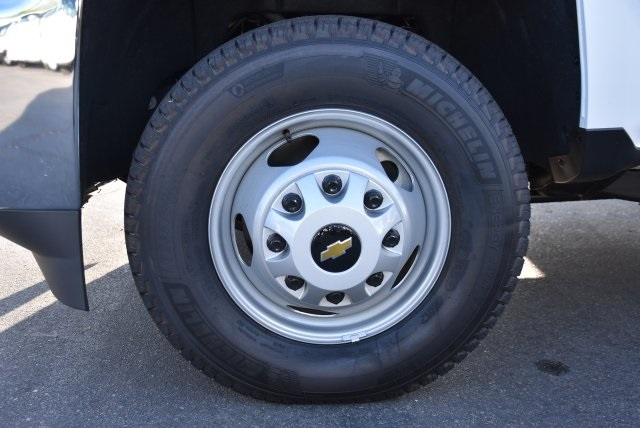 2018 Silverado 3500 Crew Cab DRW 4x2,  Martin's Quality Truck Body Flat/Stake Bed #M18356 - photo 19