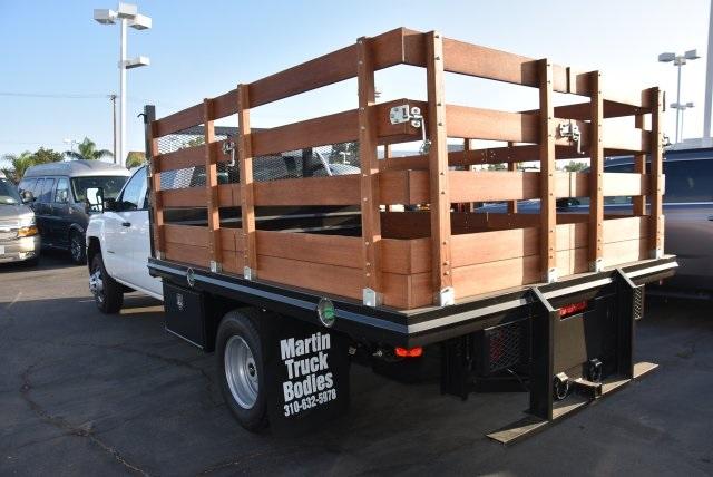2018 Silverado 3500 Crew Cab DRW 4x2,  Martin's Quality Truck Body Flat/Stake Bed #M18356 - photo 6
