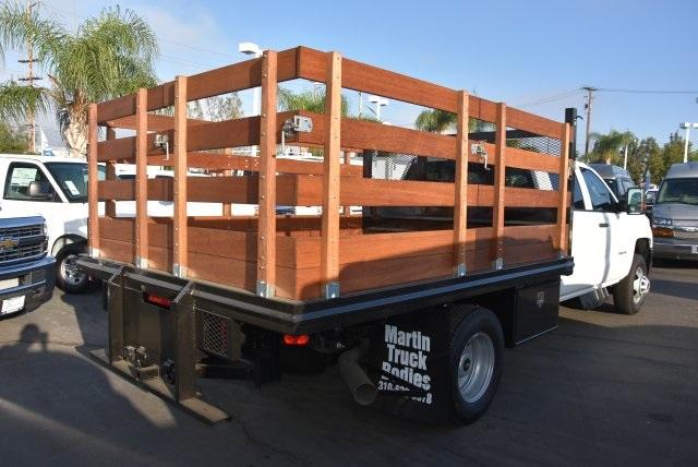 2018 Silverado 3500 Crew Cab DRW 4x2,  Martin's Quality Truck Body Flat/Stake Bed #M18356 - photo 2