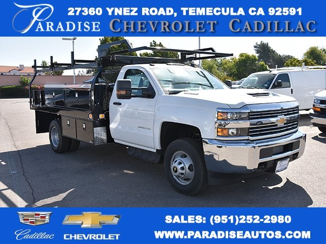 2018 Silverado 3500 Regular Cab DRW 4x2,  Knapheide Contractor Body #M18393 - photo 1