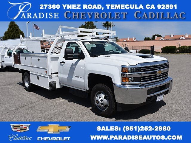 2018 Silverado 3500 Regular Cab DRW 4x2,  Royal Contractor Body #M18428 - photo 1