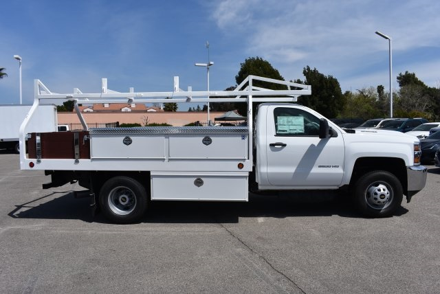 2018 Silverado 3500 Regular Cab DRW 4x2,  Royal Contractor Body #M18428 - photo 8