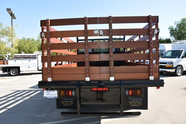 2018 LCF 4500 Regular Cab 4x2,  Martin's Quality Truck Body Flat/Stake Bed #M18618 - photo 8