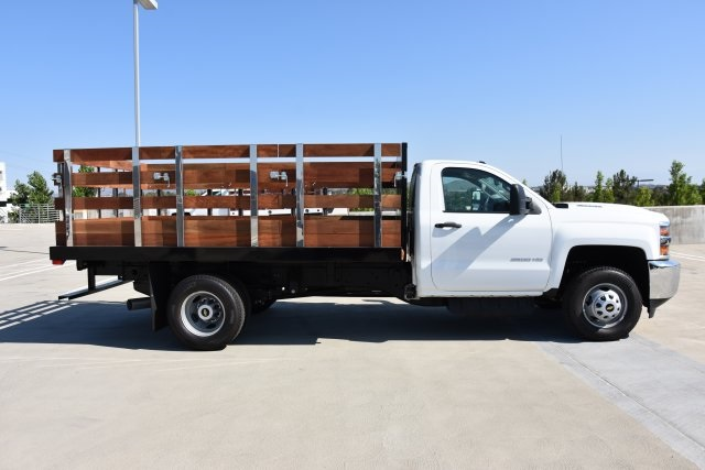 2018 Silverado 3500 Regular Cab DRW 4x2,  Harbor Flat/Stake Bed #M18677 - photo 9