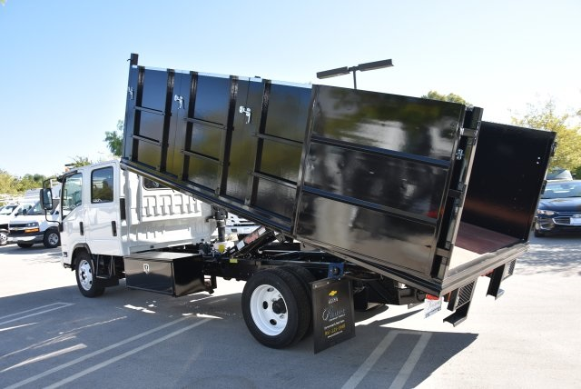 2018 LCF 4500 Crew Cab 4x2,  Martin's Quality Truck Body Landscape Dump #M18718 - photo 14
