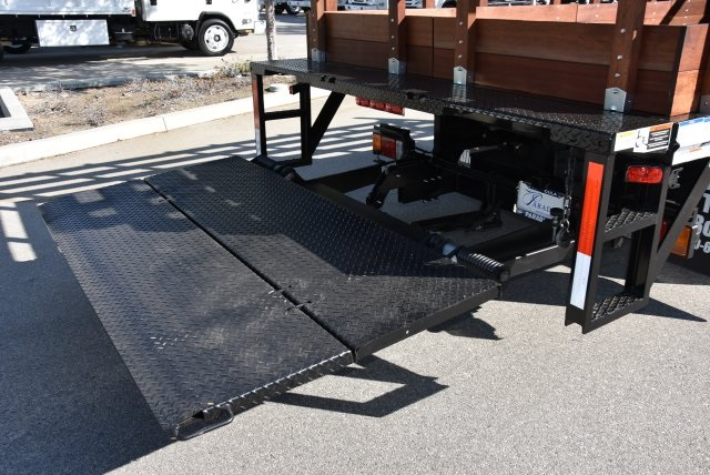 2018 LCF 4500 Regular Cab 4x2,  Martin's Quality Truck Body Flat/Stake Bed #M18734 - photo 3