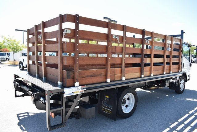 2018 LCF 4500 Regular Cab 4x2,  Martin's Quality Truck Body Flat/Stake Bed #M18766 - photo 1