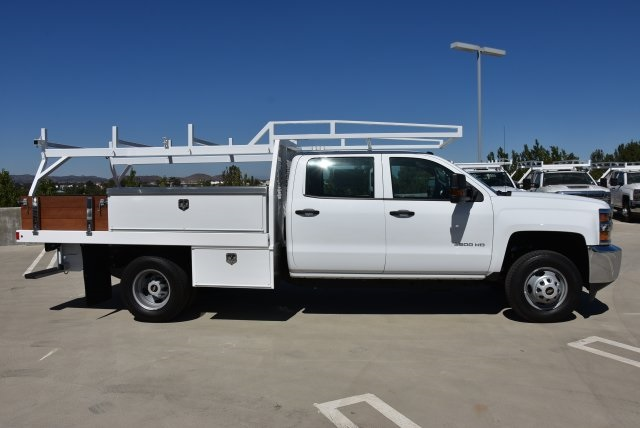 2019 Silverado 3500 Crew Cab DRW 4x2,  Harbor Contractor Body #M19009 - photo 9