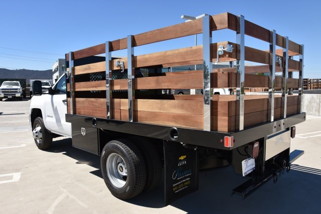 2019 Silverado 3500 Regular Cab DRW 4x2,  Harbor Flat/Stake Bed #M19063 - photo 6