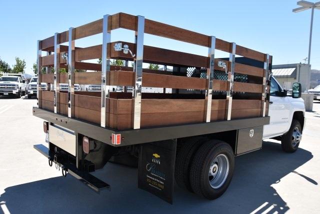 2019 Silverado 3500 Regular Cab DRW 4x2,  Harbor Black Boss Stake Bed Flat/Stake Bed #M19063 - photo 2
