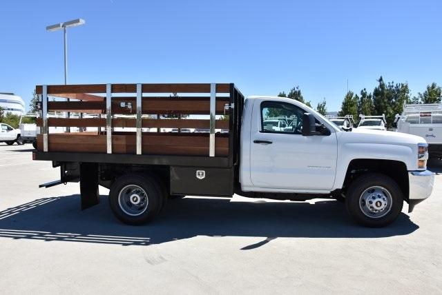 2019 Silverado 3500 Regular Cab DRW 4x2,  Harbor Black Boss Stake Bed Flat/Stake Bed #M19063 - photo 8